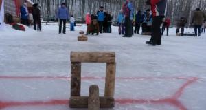 Городошный керлинг стартовал на Зимней дворовой олимпиаде Липецкой области