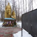 Памятник павшим в годы Великой Отечественной войны односельчанам в селе Ожога Воловского района