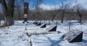 Братская могила советских воинов в селе Крутое Елецкого района