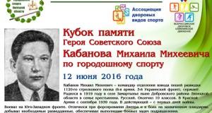 Турнир по городошному спорту на Кубок Героя Советского Союза М.М. Кабанова пройдёт в Трубетчино