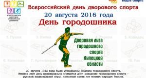 День городошника впервые пройдёт в России 20 августа