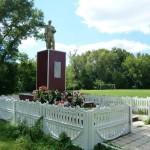 Братская могила советских воинов в Долгоруково Липецкой области