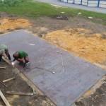 Городошный корт в Долгоруково: уложены металлические листы