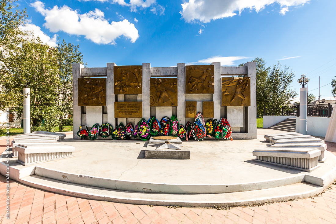 Памятник погибшим воинам-землякам в Кяхте. Проект «Имена на обелисках» в Бурятии